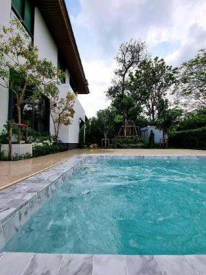 เช่าบ้านพัฒนาการ ศรีนครินทร์ : ⭐🚩Pool villa Corner house (H1319) Burasiri Pattanakarn For Rent