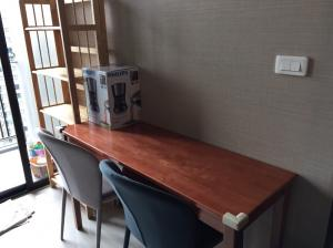 For RentCondoOnnut, Udomsuk : Condo for sale/rent at The Base Park West, 1 bedroom unit, size 30 sq.m., separated bedroom, living room, kitchen (closed kitchen)