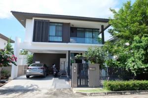 For RentHouseLadkrabang, Suwannaphum Airport : LBH0251 House for rent, 2 floors, Manthana Village, On Nut, Ring Road 4 near Mega Bangna.