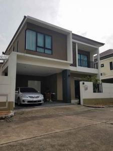 For RentHousePattanakan, Srinakarin : 2 storey detached house for rent, Srinakarin, near Suvarnabhumi Airport