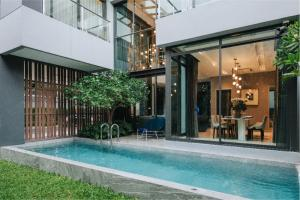 For SaleHouseVipawadee, Don Mueang, Lak Si : For Sell 3 - Storey Villa in Modern Luxury Style Fully Decorated with Swimminng Pool