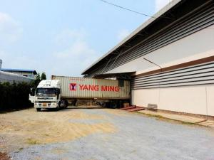 For RentWarehouseNakhon Pathom, Phutthamonthon, Salaya : 2 storey warehouse for rent, 1,200 sq.m., Phutthamonthon Sai 4 area Near Krathum Lom Municipality, 3-phase electrical system, accessible in many ways, water does not flood, large transport vehicles and container trucks can go in and out.