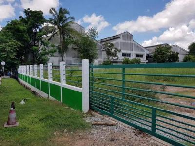 For SaleLandSamrong, Samut Prakan : Land for sale 3-0-1 rai, purple area. Bang Phli Industrial Estate, Bangna-Trad Road, km. 23, the land is square. Build a factory immediately, no flooding.
