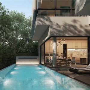 ขายบ้านเลียบทางด่วนรามอินทรา : Selling : Luxury House With Private Pool in Ekamai Ramintra , 3 Bed 4 Bath , 4 Parking Lot , 450 Sqm , 60sqw 🔥🔥Selling Price : 30,8000,000 THB 🔥🔥(unfinished)🔥🔥Selling Price : 44,000,000 THB 🔥🔥(full furniture)