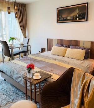 For RentCondoRama9, RCA, Petchaburi : 🔥Risa00939 Condo for rent, Life asoke rama9, Studio 26 sqm, 21st floor, Building A 15,000 only, very beautiful room 🔥