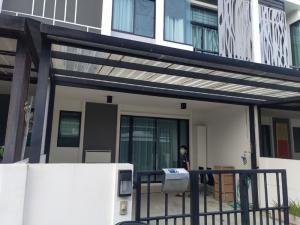 For RentHouseRama5, Ratchapruek, Bangkruai : 3-storey townhome for rent, Ratchaphruek-Rattanathibet, near Central WestGate.