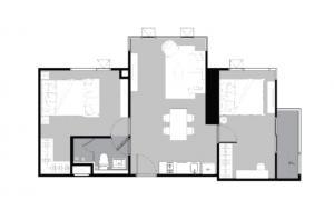 ขายคอนโดลาดพร้าว เซ็นทรัลลาดพร้าว : ห้องสุดท้าย!!! 2 Bed ห้องใหญ่ วิวอโศก+วิวสวนจตุจักร