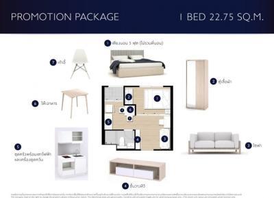 ขายดาวน์ The Privacy พระราม 9 ชั้น 7วิวเมือง1 ห้องนอน22.75ตรม. รอบ Pre-Sale 1.79 ล้านบาท ขายเพียง 40,000  บาท