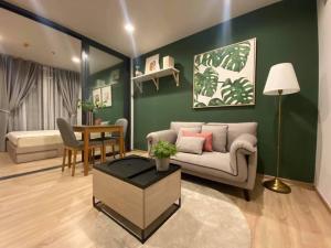 For RentCondoRama9, Petchburi, RCA : 🔥🔥Risa01020 Condo for rent, The base garden rama9, 33 sqm, 23rd floor, 12,000 baht only 🔥🔥