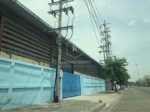 เช่าโกดังราษฎร์บูรณะ สุขสวัสดิ์ : ให้เช่าโกดัง พร้อมออฟฟิศ พื้นที่สีม่วง ติดถนนสุขสวัสดิ์ อ.พระประแดง จ.สมุทรปราการ Warehouse for rent with office, next to Suksawat Road, Phra Pradaeng District, Samut Prakan Province.