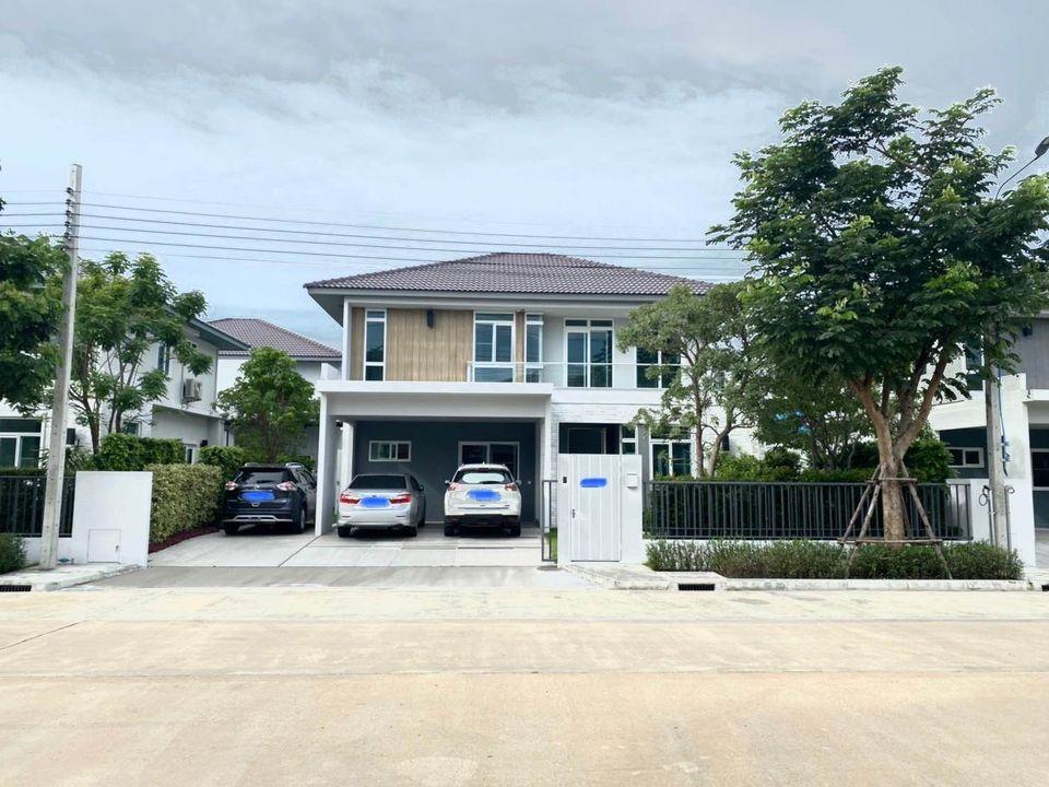For RentHouseBangna, Bearing, Lasalle : Single Detached-House for rent Mantana Bangna-Wongwean