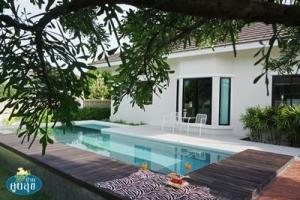For SaleHousePattaya, Bangsaen, Chonburi : บ้านเดี่ยวชั้นเดียว พร้อมสระว่ายน้ำ Baan Koonsuk Pool Villa (Bangsaray Chonburi)