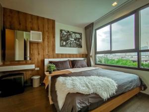 For RentCondoOnnut, Udomsuk : Condo for rent Ideo Sukhumvit 93, room size 35 sq.m., 1 bedroom, 1 bathroom, 50 meters from BTS Bang Chak station.
