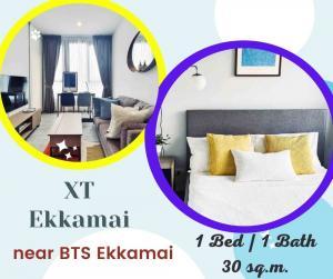 For RentCondoSukhumvit, Asoke, Thonglor : XT Ekkamai, chic condo, good location, near BTS Ekkamai