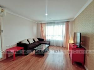 For RentCondoRama9, Petchburi, RCA : RENT !! Condo Lumpini Place, MRT Rama 9, 2 Bed, D Bl., 12a Fl., Area 71 sq.m., Rent 22,000 .-