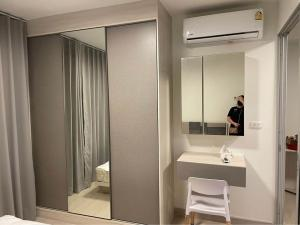 For RentCondoBang kae, Phetkasem : 🔥🔥 Corner room!! There is a washing machine!! Ready to move in!! [Niche ID Bang Khae Phase 2] Line : @vcassets 🔥🔥