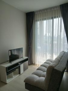 For RentCondoRama9, Petchburi, RCA : For rent, The Niche Pride Thonglor-Phetchaburi, 1 bedroom, new room, everything new, closed kitchen, living room, city view, washing machine, refrigerator, TV, microwave, electricity + fully furnished, near MRT