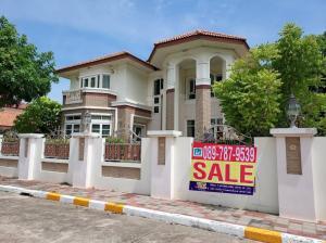 For SaleHouseSamrong, Samut Prakan : 2 storey Detached house for sale, DE VILLE SRINAKARIN, 5 bedrooms, size 280 square wah, a lot of space