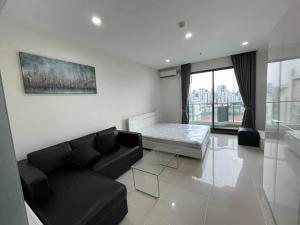 For RentCondoRama9, Petchburi, RCA : W0939 For rent, Supalai Premier @Asoke, Studio room 1 bathroom, Room size 35 sq.m. , 21st floor, good view, fully furnished