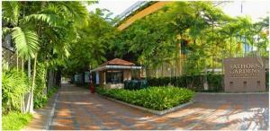 เช่าคอนโดสาทร นราธิวาส : ปล่อยเช่า Sathorn Garden ไซส์ใหญ่มว๊ากกกกก 200 ตร.ม. 3ห้องนอน3ห้องน้ำ ชั้น 15+  ทำเลใจกลางสาทร ใกล้ MRT ลุมพินี