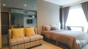 For SaleCondoSukhumvit, Asoke, Thonglor : For sale Rhythm Sukhumvit 36-38  Studio, size 24 sq.m., Beautiful room, fully furnished.