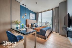 For RentCondoSukhumvit, Asoke, Thonglor : BT009_P🥰Beatniq Sukhumvit 32🥰**very beautiful room, fully furnished, ready to move in** near BTS Thonglor
