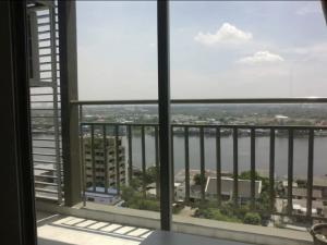 For RentCondoRattanathibet, Sanambinna : For rent, Lumpini Phibunsongkhram, corner room, #full river view, big room 34.5 sqm, 14th floor, fully built-in furniture