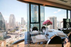 For RentCondoSukhumvit, Asoke, Thonglor : JY-R00051- Super luxury Ashton Asoke Condominium Sukhumvit 21 64sq.m. on 24th floor 2Bed 2Bath Corner Room, Beautifully Decorated, Asoke road View