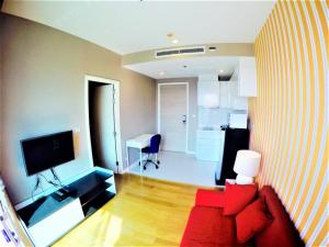 For RentCondoRatchathewi,Phayathai : For Rent 1Bedroom 1Bathroom Size 31 sq.m. On 27th floor Fully-Furnish, Ready to move in Rental Price 16,000 Baht/Month