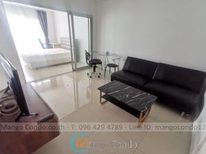 For RentCondoRama9, Petchburi, RCA : For rent 12,000 baht Aspire Rama9 size 39sqm on 21st Floor A building near G Tower
