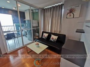 For RentCondoOnnut, Udomsuk : For Rent 10,000 baht The Base Sukhumvit77 size 30sqm on 34th Flr. Corner room Pool view and City View