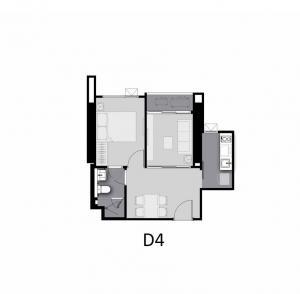 ขายดาวน์คอนโดท่าพระ ตลาดพลู วุฒากาศ : ขายดาวน์ Rare Item/One bed+ชั้น21 ห้องสวย มีชั้นละห้อง