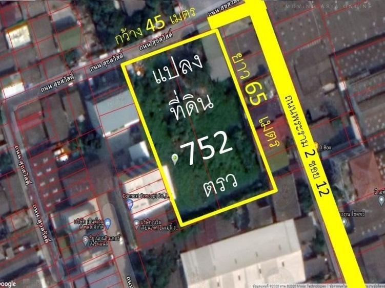 For SaleLandRama 2, Bang Khun Thian : Land for sale 752 square wa, enter Rama 2 Road, Soi 12, only 2 60 meters.