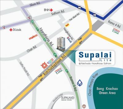 For SaleCondoSathorn, Narathiwat : Sell shop in Supalai Lite Ratchada, Narathiwat Sathorn, best location, next to lobby, with tenants