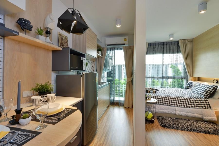 For RentCondoBangbuathong, Sainoi : AA61- 0001 Condo for rent, The IRIS Bangyai, THE IRIS BANGYAI, decorated with new furniture.