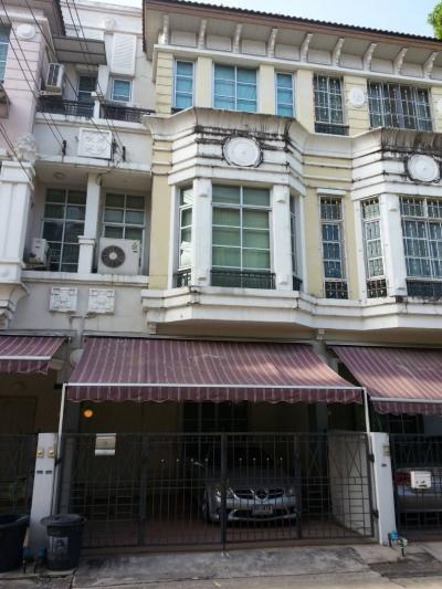 For SaleTownhouseKasetsart, Ratchayothin : Urgent sale townhome, Baan Klang Muang, The Paris Ratchavipha, size 21.3 sq.m, 3-story high, with mezzanine level