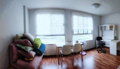 เช่าคอนโดรามคำแหง หัวหมาก : ให้เช่าคอนโด ยู@หัวหมาก สเตชั่น ขนาด 42 ตรม ชั้น 7 ตึก A 1น 1น เฟอร์ครบ ไฟฟ้าครบ 11,000 บาท