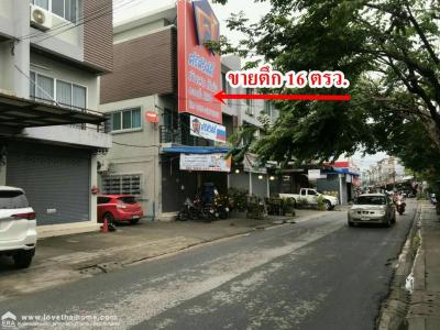 For SaleShophouseVipawadee, Don Mueang, Lak Si : 3-storey commercial building for sale, Kosum Ruam Chai Road Sucharee Village Area 16 Sq. Golden location on the side of Kosum Ruam Jai Road. Near the red line train Near the Pink Line electric train