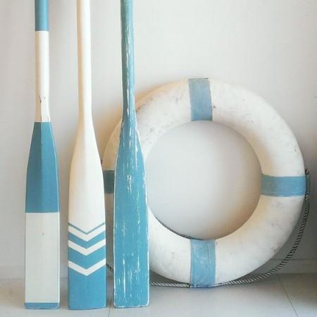 ไม้พายเรือ + ห่วงยางชูชีพ @ Beach House Decorating
