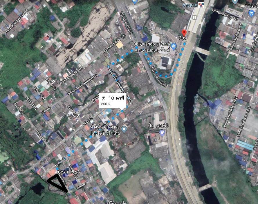 ขายที่ดินเปล่าถนนสายลวดซอย12 ปากน้ำ สมุทรปราการ ขนาด 229 ตรว ติดถนนยาว  ห่างรถไฟฟ้าสถานีสายลวด 800 ม.